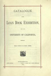 Cover of: Catalogue of the loan book exhibition