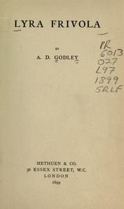 Cover of: Lyra frivola | A. D. Godley