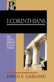 Cover of: 1 Corinthians (Baker Exegetical Commentary on the New Testament)