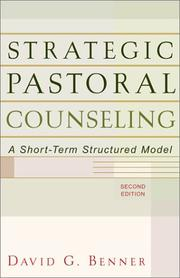 Cover of: Strategic pastoral counseling
