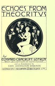 Cover of: Echoes from Theocritvs