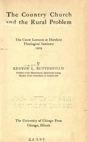 Cover of: The country church and the rural problem | Kenyon Leech Butterfield