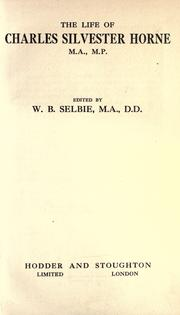 Cover of: The life of Charles Silvester Horne, M.A., M.P