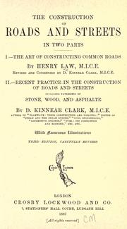 The construction of roads and streets by Henry Law