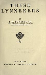 Cover of: These Lynnekers by J. D. Beresford
