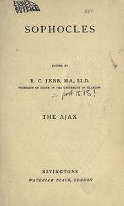 Cover of: The Ajax | Sophocles