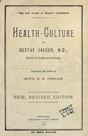 Cover of: Health-culture