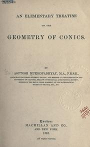 Cover of: An elementary treatise on the geometry of conics