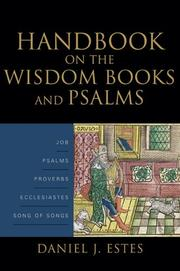 Cover of: Handbook on the Wisdom books and Psalms