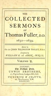 Cover of: Collected sermons, 1631-1659