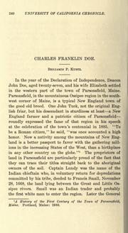 Cover of: Charles Franklin Doe