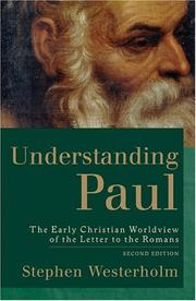 Cover of: Understanding Paul | Stephen Westerholm
