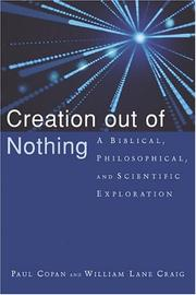 Cover of: Creation out of nothing