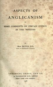 Cover of: Aspects of Anglicanism