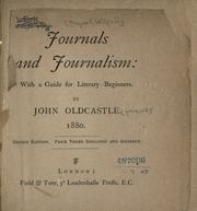 Cover of: Journals and journalism