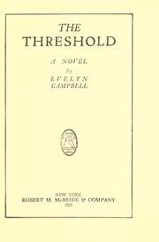 Cover of: The threshold