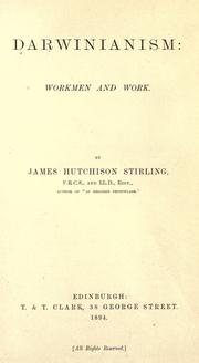 Cover of: Darwinianism: workmen and work