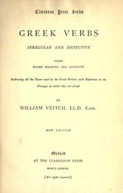 Greek verbs, irregular and defective by Veitch, William