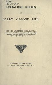 Cover of: Folk-lore relics of early village life