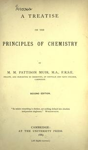 Cover of: A treatise on the principles of chemistry