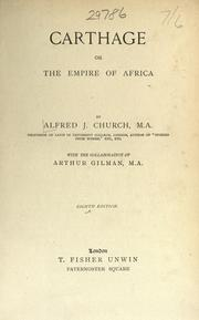 Cover of: Carthage : or the empire of Africa