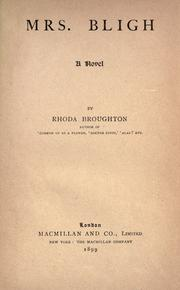 Cover of: Mrs. Bligh