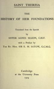 Cover of: Saint Theresa: the history of her foundations