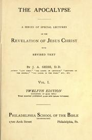 Cover of: The Apocalypse: a series of special lectures on the Revelation of Jesus Christ ; with revised text