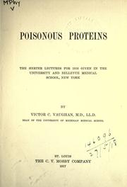 Cover of: Poisonous proteins