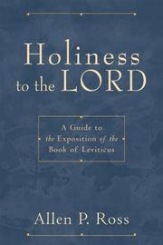 Cover of: Holiness to the Lord