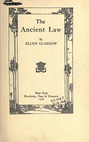 Cover of: The ancient law