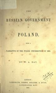 Cover of: The Russian government in Poland | William Ansell Day
