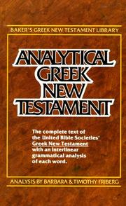 Cover of: Analytical Greek New Testament