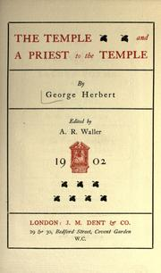 Cover of: The temple & A priest to the temple
