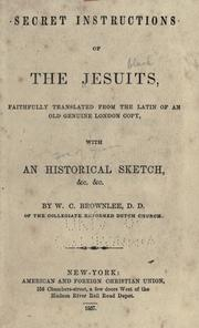 Secret instructions of the Jesuits by