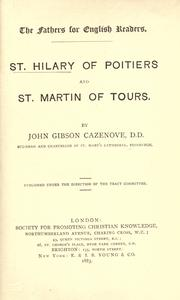 Cover of: St. Hilary of Poitiers and St. Martin of Tours