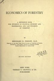 Economics of forestry by B. E. Fernow