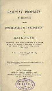 Cover of: Railway property