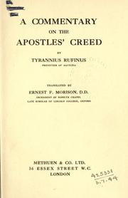 Cover of: A commentary on the Apostles' Creed