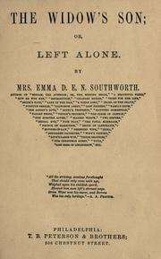 Cover of: The widow's son, or, Left alone