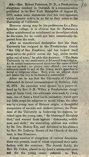 Cover of: [Letter from Mr. Gilman while president of Johns Hopkins University to President Benjamin Ida Wheeler regarding the statements of an Oakland clergyman regarding the lack of religious training in the University