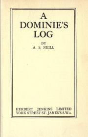 Cover of: A dominie's log