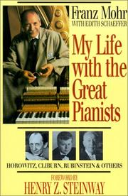 Cover of: My life with the great pianists | Franz Mohr
