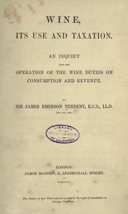 Cover of: Wine, its use and taxation