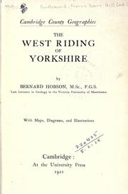 The West Riding of Yorkshire by Bernard Hobson