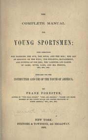 Cover of: The complete manual for young sportsmen