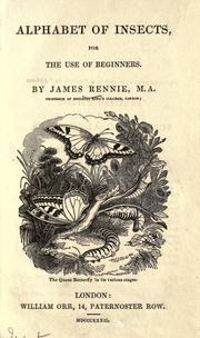 Cover of: Alphabet of insects, for the use of beginners | James Rennie