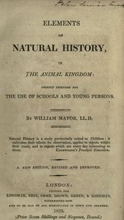 Cover of: Elements of natural history, in the animal kingdom