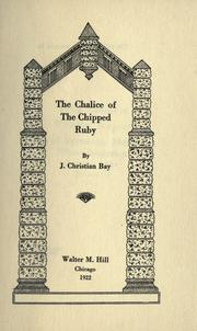 Cover of: The chalice of the chipped ruby
