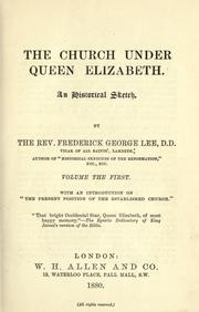 Cover of: The church under Queen Elizabeth